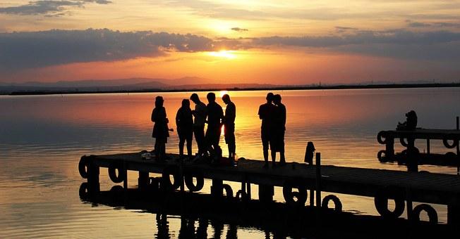 embarcadero puesta de sol